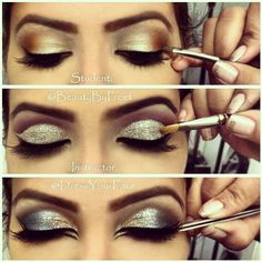 Arabic glitter eyes how to tutorial gorgeous! Fav #makeup #ohmyglamm visit www.ohmyglamm.com