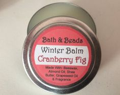 A rich, fruity cranberry fig scented balm for that rough, dry winter skin. Same wonderful ingredients as in my Gardeners Balm, but in a winter scent. Balm is heavier than lotion, but melts into your skin to moisturize and condition rough, dry skin. Made with a mixture of high quality natural oils and butters and a skin safe fragrance oil. Packaged in a re-useable tin makes this an eco-friendly product *This listing is for one tin weighing approx. 2 oz. Also available in 1 oz size. **Keep out…