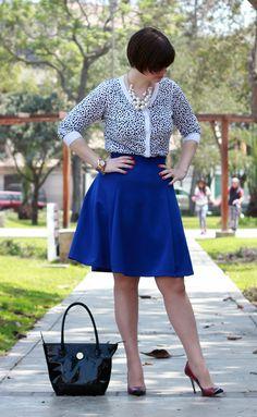 Divina Ejecutiva: Mis Looks - De azul y animal print