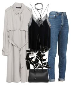 """""""Untitled #4448"""" by amm-xo ❤ liked on Polyvore featuring moda, Zara, Yves Saint Laurent, Zadig & Voltaire, BlackMoon, Laurence Dacade, women's clothing, women's fashion, women y female"""