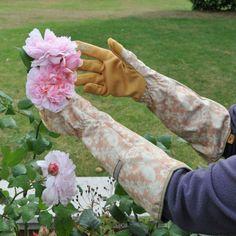 Gorgeous Ethel Rose Gauntlet Gardening Gloves from the garden accessories range at Harrod Horticultural http://www.harrodhorticultural.com/garden-accessories-tcid139.html