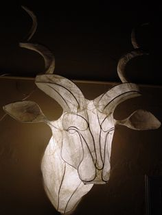 kudu trophy head | Flickr | Wire and paper wall mounted trophy light sculpture by Michael Methven