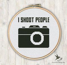 I shoot people Cross Stitch Pattern modern cross stitch