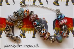 Fabulous Indian Textile Inspiration Trollbeads bracelet  By Amber Rowe