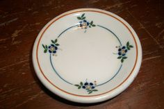 Bailey Walker China hotel railroad restaurant ware indv butter pat plate floral | eBay