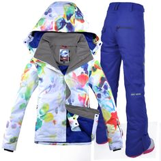 2018 GSOU SNOW Women Ski Suit Windproof Waterproof Outdoor Sport Wear  Skiing Snowboard Jacket Pant Thicken 42bac917b