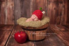 baby apple hathandspun apple hatcrochet hatnewborn by Beansknots, $30.00