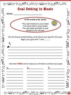 GOAL SETTING FREE download for #music students!     #musiceducation     #musedchat