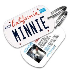 California License Plate Pet Tag  Personalized Pet ID by WagAvenue
