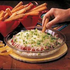Hot Pizza Dip Recipe from Taste of Home -- shared by Stacie Morse of South Otselic, New York