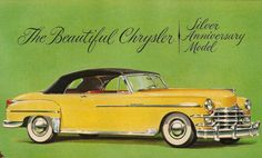 Vintage ad for Chrysler's Great New Convertible 1949 by DadsOldAds, $3.99
