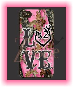 Love Camo Pink Phone Case on Etsy, $10.00