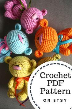 #crochet_bear PDF #pattern #amigurumi