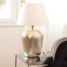 Tischlampe Bonnée antiksilber/offwhite günstig und sicher online bestellen!