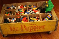 Cute toy storage idea from an antique soda crate