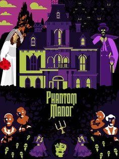 Phantom Manor by MissFlowFlame on DeviantArt Disney Rides, Disney Parks, Disney Pixar, Disney Halloween, Halloween Ideas, Wonderland, Disney Fun Facts, Tower Of Terror, Twisted Disney