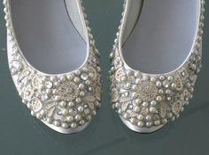 Items similar to Dazzling Silver and Crystals Bridal Ballet Flats Wedding Shoes – Any Size – Pick your own shoe color and crystal color on Etsy - Fun Wedding Sparkly Wedding Shoes, Unique Wedding Shoes, Sparkly Flats, Wedding Flats, Wedding Accessories, Wedding Day, Party Wedding, Wedding Stuff, White Flats