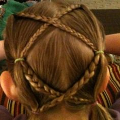 Gymnastics hair- will have to try this next week.