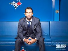 From the archives: Our photoshoot with Blue Jays GOAT Jose Bautista. World Baseball Classic, Toronto Blue Jays, Go Blue, Good Looking Men, Dapper, Sports, Bats, Athletes, People