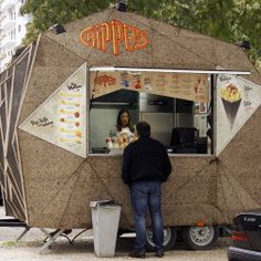 Chippers selling point designed by FYGO architecture studio. All covered in cork.