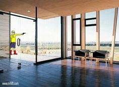 Olisur Factory in Chile - Concrete clad factory in wood and glass. http://mhllt.com/olisur-factory/  #Colchugua #LaEstrella #Chile #GuilermoHevia #GHAArquitectos #Olisur #Architecture #Design #Interior #Exterior #Furniture #mhllt #factory