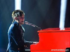 """Colton Dixon performs """"Piano Man"""" by Billy Joel at the Top 10 performance show."""