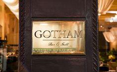 Gotham Bar & Grill (12 St/5 Av) en   Manhattan. Cocina americana de alto prestigio; Alfred Portale, dueño y chef es uno de los más reconocidos en el mundo.