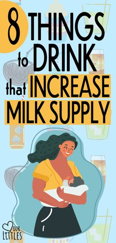 How to increase milk supply with drinks good for breastfeeding moms. Best electrolyte drinks for breastfeeding moms and some interesting option other than plain water. Come check it out!