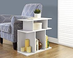 Amazon.com: Monarch Specialties White Accent Side Table, 24-Inch: Kitchen & Dining