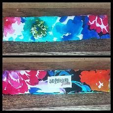 floral print stretch headband www.outhousejewels.com