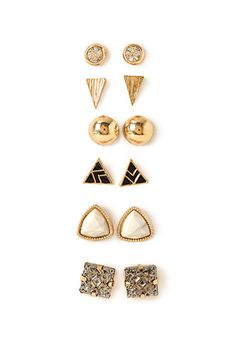 Faux Stone Earring Set | FOREVER 21 - 1000117402