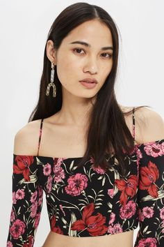 Strappy Floral Bardot Top - New In Fashion - New In - Topshop Europe