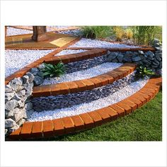Brick steps with slate stone