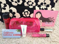 My July Ipsy Bag! I received the Pop Beauty Lip Crayon in Fuchsia Flirt (full size), BH Cosmetics California Collection Eyeshadow Sampler Trio, Coola Mineral Face SPF 20 Unscented Moisturizer, Sexy Hair Weather Proof Humidity Resistant Spray, and Demeter Salt Air Perfume Rollerball (full size). Not bad for $10! Check it out at http://www.ipsy.com/?refer=u-h1myy0n872huiqh