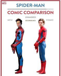 Spider-Man MCU and Comic comparison! Which do you like better?! #comicsandcoffee C: @accurate.mcu