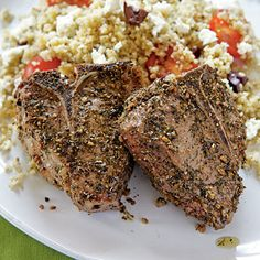 Lamb Chops and Olive Couscous