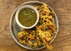 Vegetable bhajis are the perfect appetiser. Made with three types of vegetables and served with a sweet and spicy dip they are deliciously moreish! Vegan Indian Recipes, Ethnic Recipes, Saturday Kitchen Recipes, Onion Bhaji, Morning Food, Saturday Morning, James Martin, Indian Dishes, Veggie Dishes