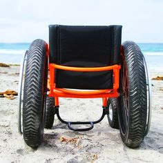 Beach Wheelchair - All Terrain Wheelchair - Offroad Wheelchair wow would love to have those wheels to pop on our son's wheelchair!!!