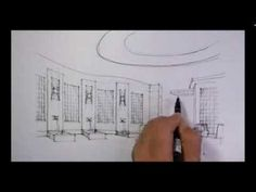 ▶ Fast sketch - Interior design for part of the loby - YouTube
