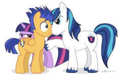 Twilight Sparkle, Flash Sentry and Shining Armor