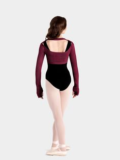 Adult Open Back Knit Shrug by MIRELLA  Style No: M7009L  Shrugs are convenient for class and stylish too. This open back shrug by Mirella with Bolero inspiration has an open back that accentuates every beautiful movement.