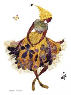 """Una artista ofrece una segunda vida a las plantas creando elegantes """"pinturas"""" florales"""