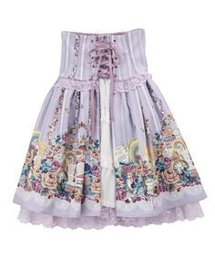 Axes Femme Tea Time Bunny skirt【先行受注】ティータイムバニースカート from their Kawaii (Lolita) clothing line. Lavender colorway. I want this purple version so bad!