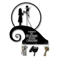 Amazon.com: Nightmare Before Christmas Spiral Hill Metal Key Hooks: Sports & Outdoors