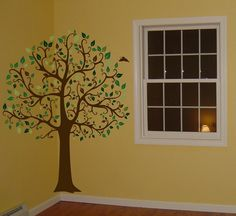 Take a nature themed room to the next level with these convenient large tree wall decals. No painting or stencils needed, just put them up!