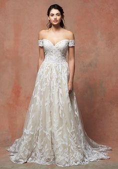 Enaura wedding dress, off the shoulder, Averlyn | https://trib.al/zdY1kPp