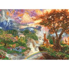 * Bambi's 1st Year - Disney Cross Stitch - Thomas Kinkade - Disney Dreams Collection Future Project!