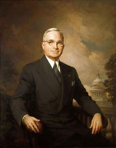 Harry S. Truman was the 33rd President of the United States. The final running mate of President Franklin D. Roosevelt in 1944, Truman succeeded to the presidency on April 12, 1945, when Roosevelt died after months of declining health. Presidential term April 12, 1945 – January 20, 1953.