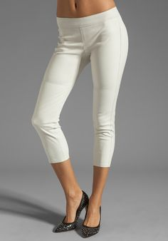 Shop for Graham & Spencer Stretch Leather Pants in Stone at REVOLVE. Free day shipping and returns, 30 day price match guarantee. Ideal Girl, Graham Spencer, Revolve Clothing, Stretches, Leather Pants, Capri Pants, Free Shipping, Shopping, Stone