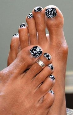 Cute nails with Jamberry Nail Wraps Pretty Toes, Pretty Nails, Beautiful Toes, Love Nails, Fun Nails, Cute Pedicures, Gel Toes, Painted Toes, Toe Nail Designs